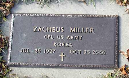 MILLER, ZACHEUS - Cass County, North Dakota | ZACHEUS MILLER - North Dakota Gravestone Photos
