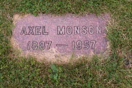 MONSON, AXEL - Cass County, North Dakota   AXEL MONSON - North Dakota Gravestone Photos