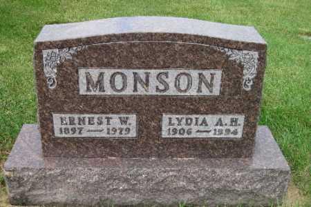 MONSON, ERNEST W. - Cass County, North Dakota | ERNEST W. MONSON - North Dakota Gravestone Photos