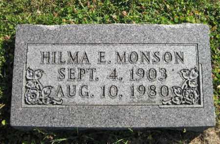 MONSON, HILMA E. - Cass County, North Dakota | HILMA E. MONSON - North Dakota Gravestone Photos