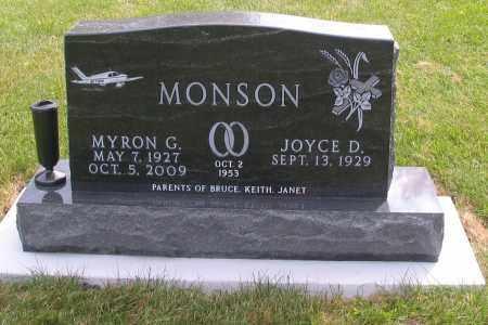 MONSON, MYRON G. - Cass County, North Dakota | MYRON G. MONSON - North Dakota Gravestone Photos