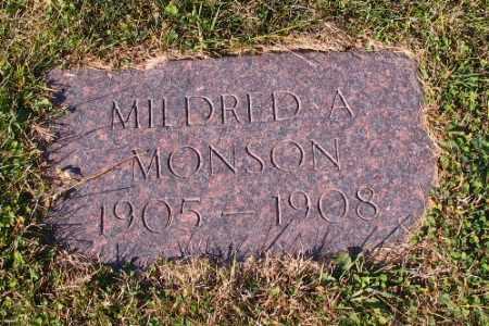 MONSON, MILDRED A. - Cass County, North Dakota | MILDRED A. MONSON - North Dakota Gravestone Photos