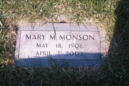 MONSON, MARY M. - Cass County, North Dakota | MARY M. MONSON - North Dakota Gravestone Photos