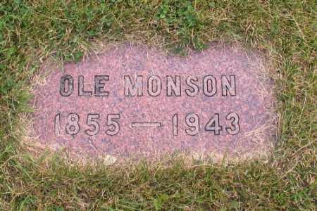 MONSON, OLE - Cass County, North Dakota   OLE MONSON - North Dakota Gravestone Photos