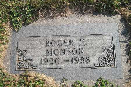 MONSON, ROGER H. - Cass County, North Dakota   ROGER H. MONSON - North Dakota Gravestone Photos