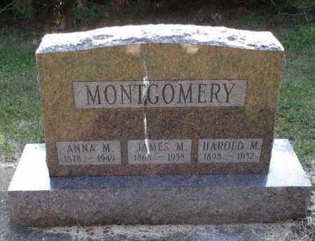 MONTGOMERY, HAROLD M. - Cass County, North Dakota | HAROLD M. MONTGOMERY - North Dakota Gravestone Photos