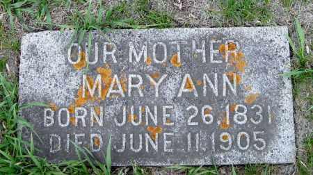 MONTGOMERY, MARY ANN - Cass County, North Dakota | MARY ANN MONTGOMERY - North Dakota Gravestone Photos