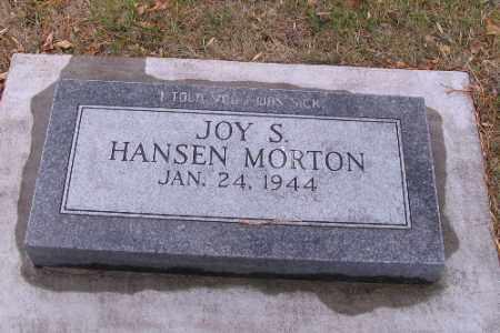 HANSEN MORTON, JOY S. - Cass County, North Dakota   JOY S. HANSEN MORTON - North Dakota Gravestone Photos