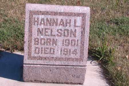 NELSON, HANNAH L. - Cass County, North Dakota   HANNAH L. NELSON - North Dakota Gravestone Photos