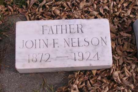 NELSON, JOHN F. - Cass County, North Dakota   JOHN F. NELSON - North Dakota Gravestone Photos