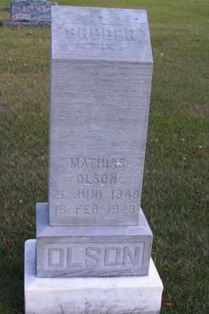 OLSON, MATHIAS - Cass County, North Dakota | MATHIAS OLSON - North Dakota Gravestone Photos