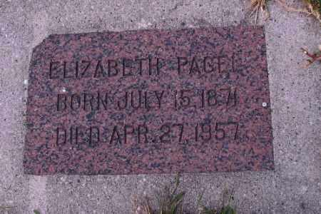 PAGEL, ELIZABETH - Cass County, North Dakota | ELIZABETH PAGEL - North Dakota Gravestone Photos