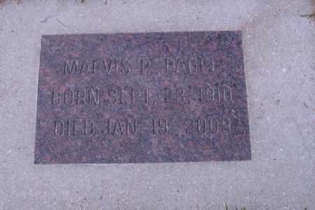 PAGEL, MARVIS L. - Cass County, North Dakota | MARVIS L. PAGEL - North Dakota Gravestone Photos