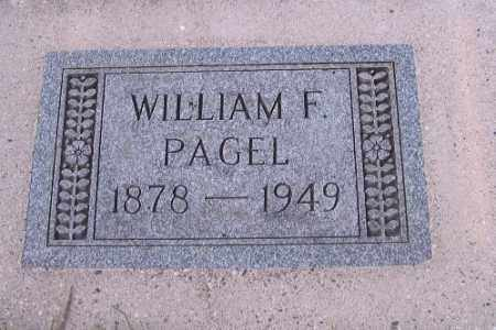 PAGEL, WILLIAM F. - Cass County, North Dakota   WILLIAM F. PAGEL - North Dakota Gravestone Photos