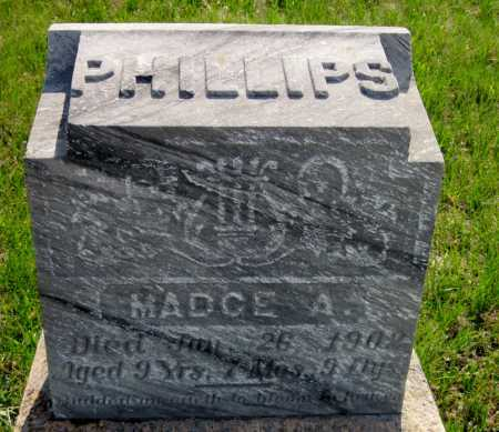 PHILLIPS, MADGE A. - Cass County, North Dakota | MADGE A. PHILLIPS - North Dakota Gravestone Photos