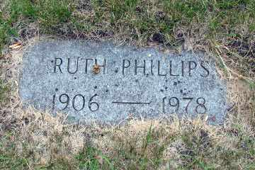 PHILLIPS, RUTH - Cass County, North Dakota | RUTH PHILLIPS - North Dakota Gravestone Photos