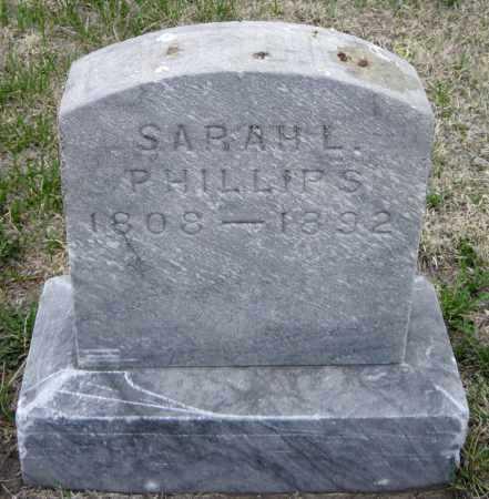PHILLIPS, SARAH L. - Cass County, North Dakota   SARAH L. PHILLIPS - North Dakota Gravestone Photos