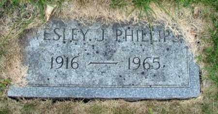 PHILLIPS, WESLEY J. - Cass County, North Dakota | WESLEY J. PHILLIPS - North Dakota Gravestone Photos