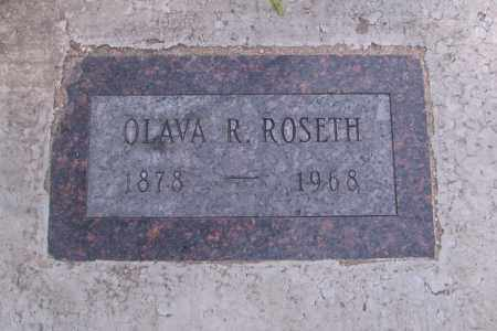 ROSETH, OLAVA R. - Cass County, North Dakota | OLAVA R. ROSETH - North Dakota Gravestone Photos