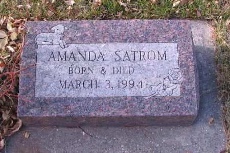 SATROM, AMANDA - Cass County, North Dakota | AMANDA SATROM - North Dakota Gravestone Photos