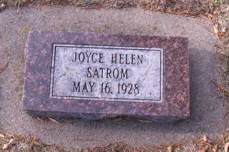 SATROM, JOYCE HELEN - Cass County, North Dakota | JOYCE HELEN SATROM - North Dakota Gravestone Photos