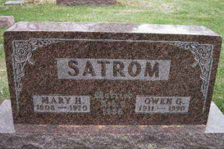 SATROM, OWEN G. - Cass County, North Dakota | OWEN G. SATROM - North Dakota Gravestone Photos