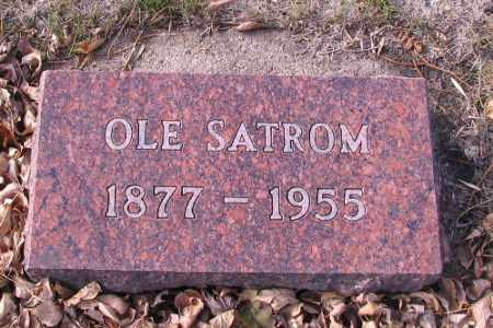 SATROM, OLE - Cass County, North Dakota | OLE SATROM - North Dakota Gravestone Photos