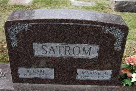 SATROM, R. CARL - Cass County, North Dakota | R. CARL SATROM - North Dakota Gravestone Photos
