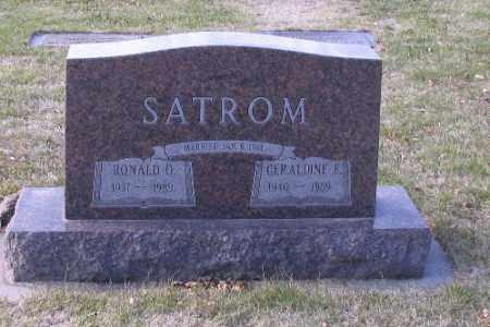 SATROM, GERALDINE E. - Cass County, North Dakota   GERALDINE E. SATROM - North Dakota Gravestone Photos