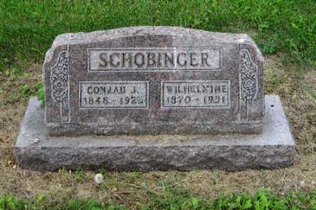 SCHOBINGER, WILHELMINE - Cass County, North Dakota | WILHELMINE SCHOBINGER - North Dakota Gravestone Photos