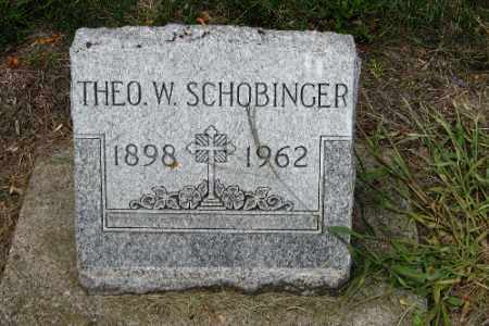 SCHOBINGER, THEO W. - Cass County, North Dakota | THEO W. SCHOBINGER - North Dakota Gravestone Photos