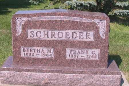 SCHROEDER, FRANK C. - Cass County, North Dakota | FRANK C. SCHROEDER - North Dakota Gravestone Photos