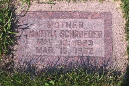 SCHROEDER, MARTHA - Cass County, North Dakota | MARTHA SCHROEDER - North Dakota Gravestone Photos
