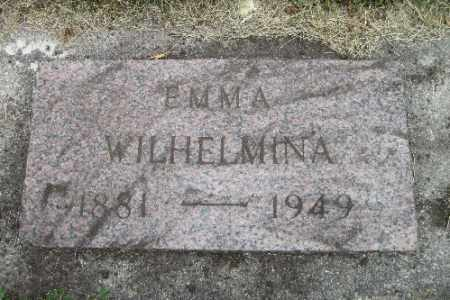SCHULTZ, EMMA WILHELMINA - Cass County, North Dakota | EMMA WILHELMINA SCHULTZ - North Dakota Gravestone Photos