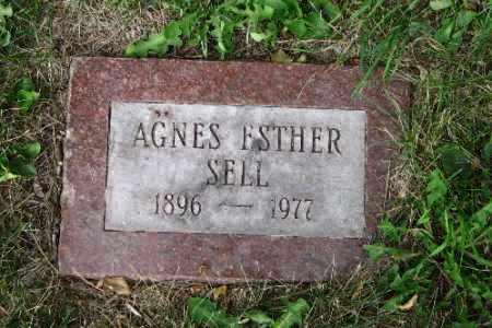 SELL, AGNES ESTHER - Cass County, North Dakota   AGNES ESTHER SELL - North Dakota Gravestone Photos