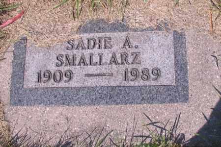 SMALLARZ, SADIE A. - Cass County, North Dakota | SADIE A. SMALLARZ - North Dakota Gravestone Photos