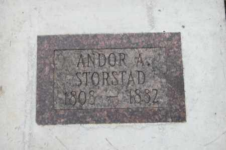 STORSTAD, ANDOR A. - Cass County, North Dakota | ANDOR A. STORSTAD - North Dakota Gravestone Photos