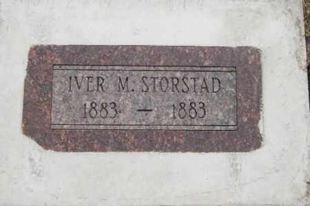 STORSTAD, IVER M. - Cass County, North Dakota   IVER M. STORSTAD - North Dakota Gravestone Photos