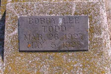 TODD, BOBBY LEE - Cass County, North Dakota | BOBBY LEE TODD - North Dakota Gravestone Photos