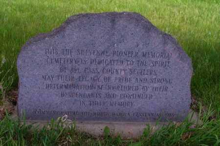 VAA, MEMORIAL MARKER - Cass County, North Dakota   MEMORIAL MARKER VAA - North Dakota Gravestone Photos