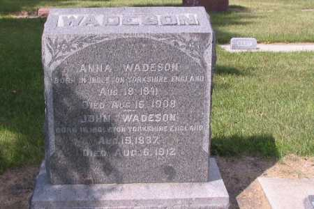 WADESON, JOHN - Cass County, North Dakota | JOHN WADESON - North Dakota Gravestone Photos