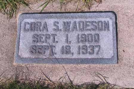 WADESON, CORA S. - Cass County, North Dakota   CORA S. WADESON - North Dakota Gravestone Photos