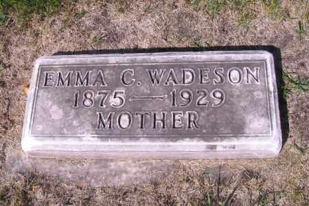 WADESON, EMMA C. - Cass County, North Dakota   EMMA C. WADESON - North Dakota Gravestone Photos
