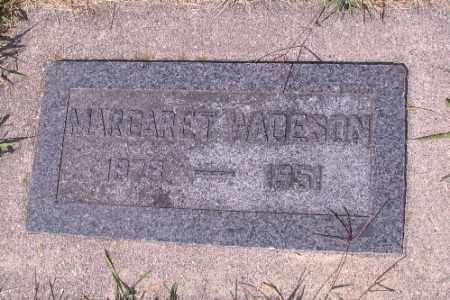 WADESON, MARGARET - Cass County, North Dakota | MARGARET WADESON - North Dakota Gravestone Photos