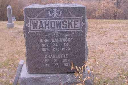 WAHOWSKE, JOHN - Cass County, North Dakota | JOHN WAHOWSKE - North Dakota Gravestone Photos