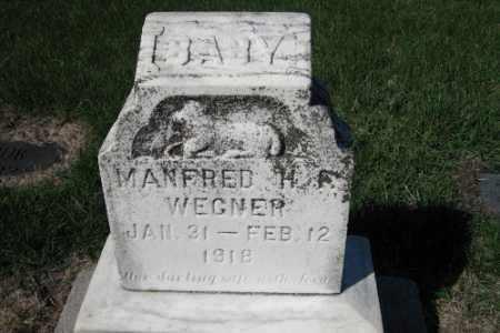 WEGNER, MANFRED H. F. - Cass County, North Dakota | MANFRED H. F. WEGNER - North Dakota Gravestone Photos