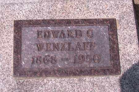 WENZLAFF, EDWARD C. - Cass County, North Dakota | EDWARD C. WENZLAFF - North Dakota Gravestone Photos