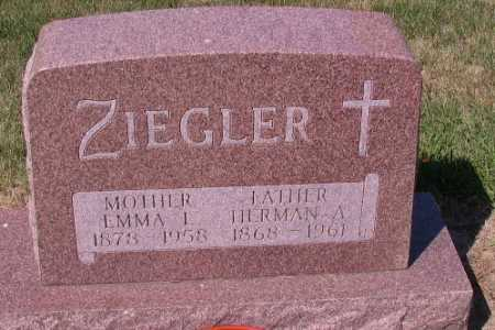 ZIEGLER, EMMA I. - Cass County, North Dakota | EMMA I. ZIEGLER - North Dakota Gravestone Photos