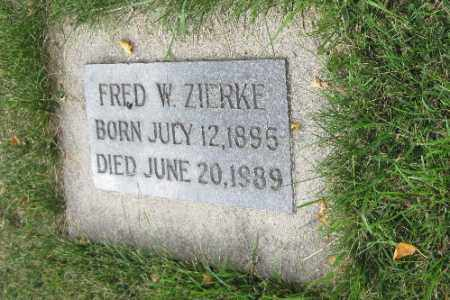 ZIERKE, FRED W.. - Cass County, North Dakota | FRED W.. ZIERKE - North Dakota Gravestone Photos
