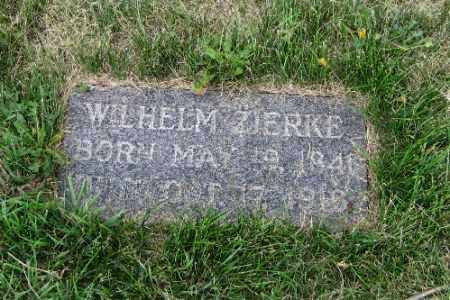 ZIERKE, WILHELM - Cass County, North Dakota | WILHELM ZIERKE - North Dakota Gravestone Photos